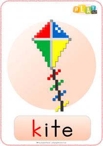 Flashcard K - Kite