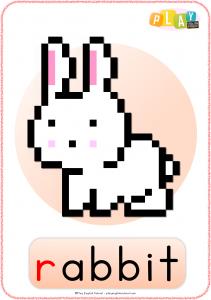 Flashcards R - Rabbit