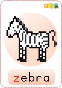 Flashcards Z - Zebra