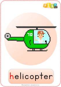 Flashcard H - Helicopter