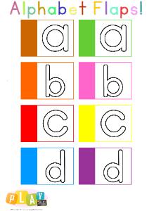 Alphabet Flap Book Flaps abcd Thumbnail