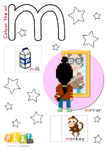 Alphabet Flap Book - m Thumbnail