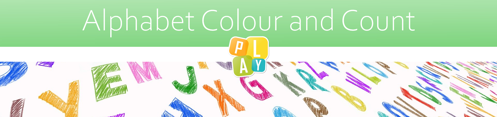 header image alphabet colour and count