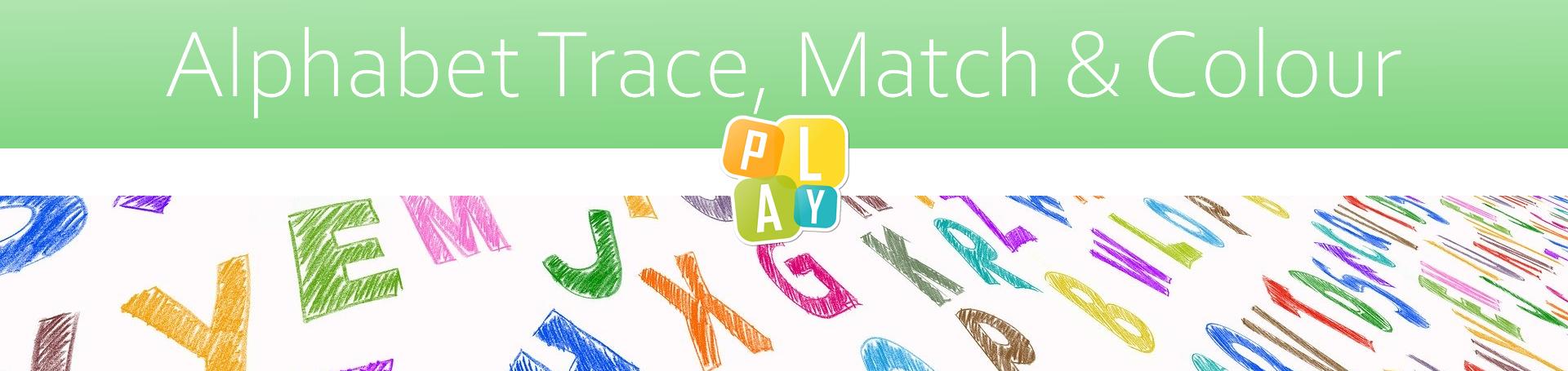 Header Alphabet Trace Match and Colour