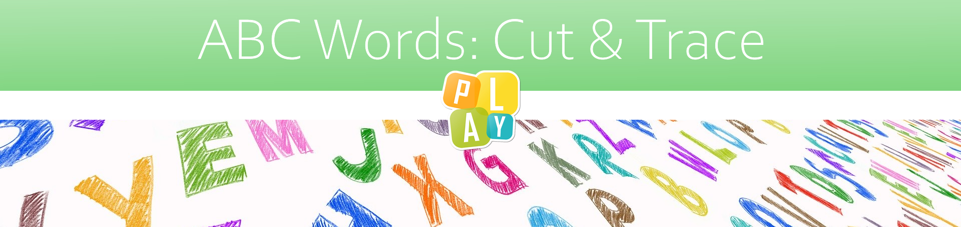 Header ABC Words Cut and Trace