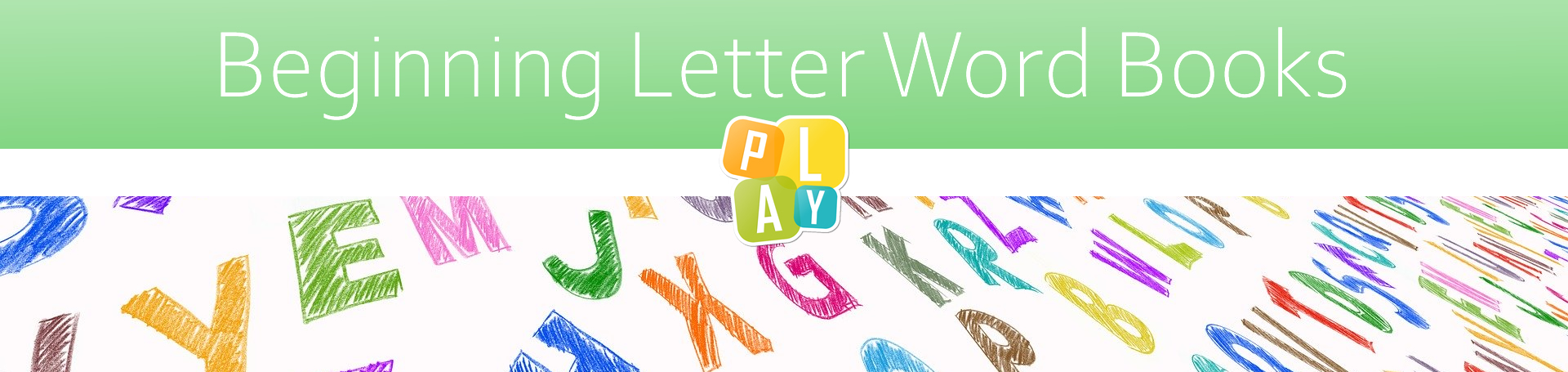 Header Image Beginning Letter Word Books